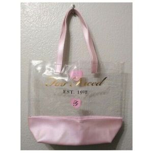 🆕👛 Too Faced Clear Tote Bag - LIMITED EDITION